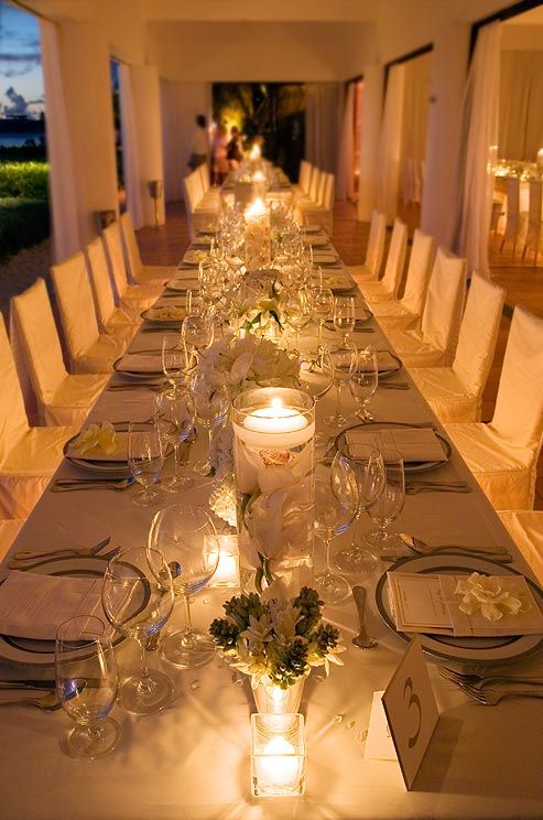 Wedding Decorations Floating Candles Candle Holders Wedding Lighting || Colin Cowie Weddings & 282 best Stephanieu0027s Wedding....some ideas images on Pinterest ...