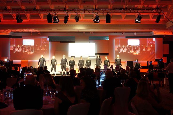 Slide step Irish dancers performing at the Irish Tourism Industry Awards 2017