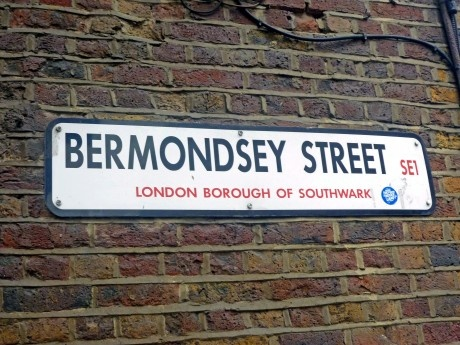 Bermondsey Street, London SE1    I want a picture next to this sign, mainly because of Patrick Wolf's song.