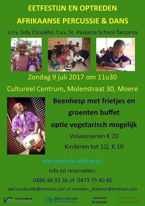 Eetfestijn en optreden afrikaanse percussie & dans