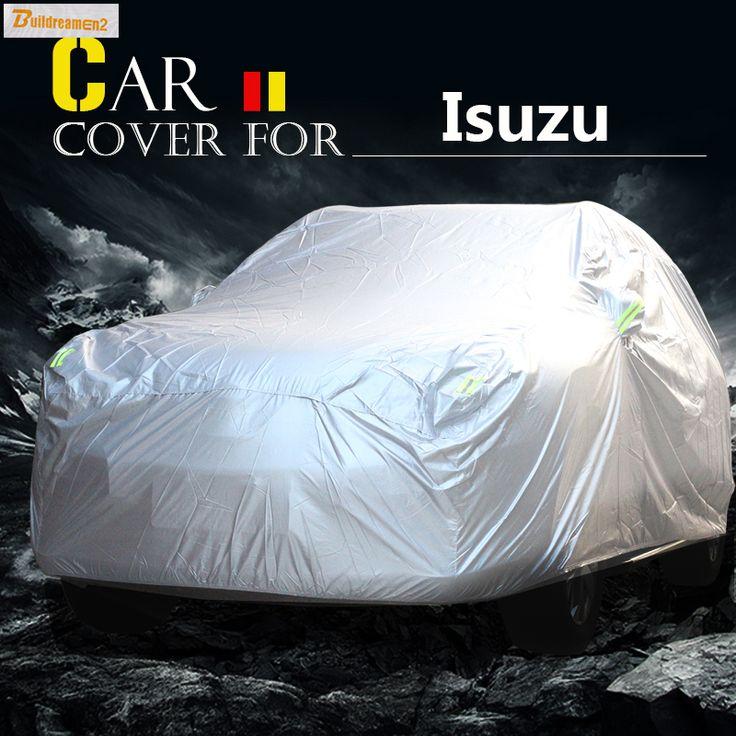 Buildreamen2 Car Cover Sun Anti-UV Snow Rain Scratch Resistant Cover Waterproof For Isuzu Ascender Hombre Oasis Rodeo Trooper