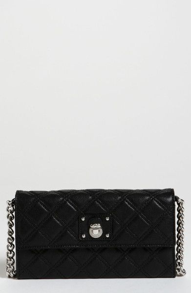 Marc Jacobs Lacquered Quilting Ginger Shoulder Bag in Black (black/nickel) - Lyst