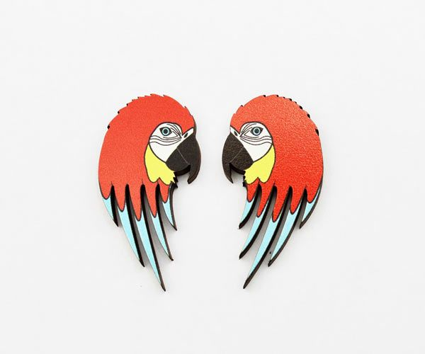 #macaw #earrings by Love Ikandi, a Queensland based business. All jewellery is designed and made in Australia.