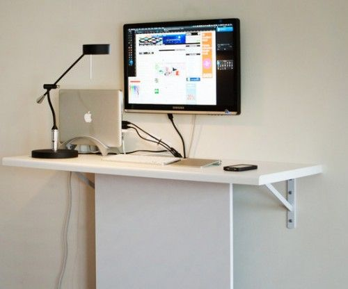 Very Functional Cheap DIY Standing Desk | Shelterness