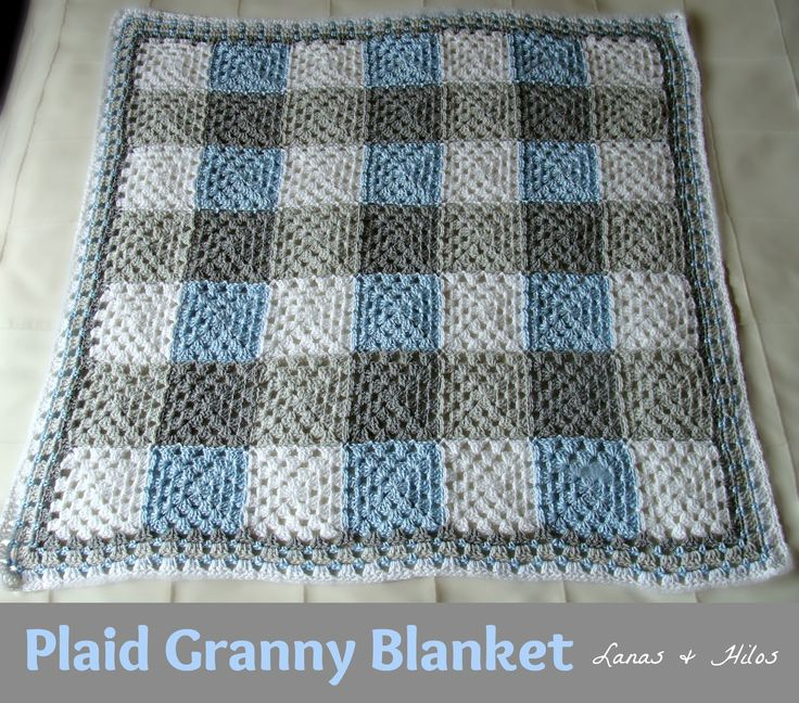 PLAID GRANNY in Grey / Blue