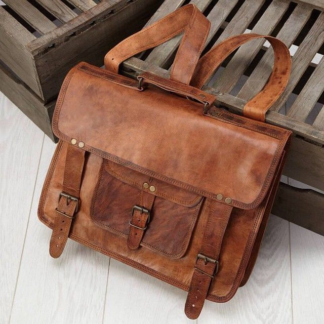 Brown Leather Satchel/brifcase Backpacks