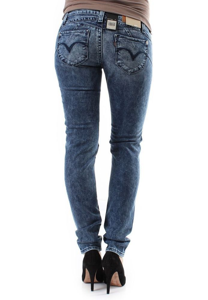 New Ladies Levi Revel Demi Low Skinny Leg Stretch Jeans Woman Size
