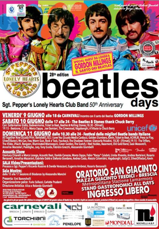Beatles Day a Brescia  http://www.panesalamina.com/2017/55949-beatles-days-a-brescia.html