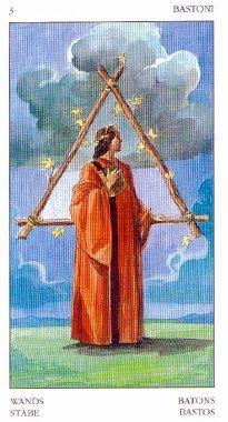 3 of wands - Tarot of the Renaissance