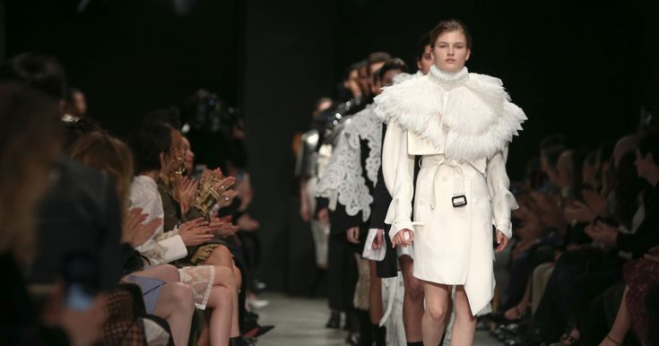 British sculptor Henry Moore inspired unisex looks and elaborate Victorian collars.