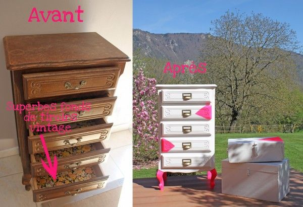 Customisation de commode (chiffonnier) | Recyclart