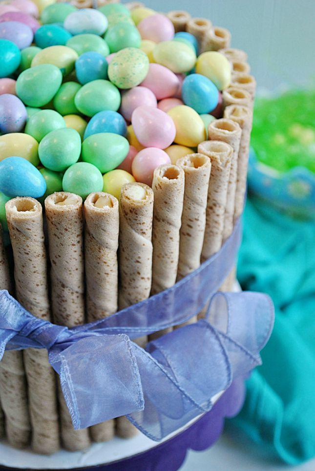 DIY this fun Easter Basket Cake in just 30 minutes.