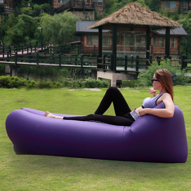 Inflatable Air Lounger - - Relax anywhere during your outdoor trip when you have this Inflatable Couch. It is suitable for places like  such as park, beach, camping, travelling, pool and hiking. It is easy to inflate and takes only 1 minute to inflate. Once you relax, you can deflate it and put in a carry bag that comes with the pack