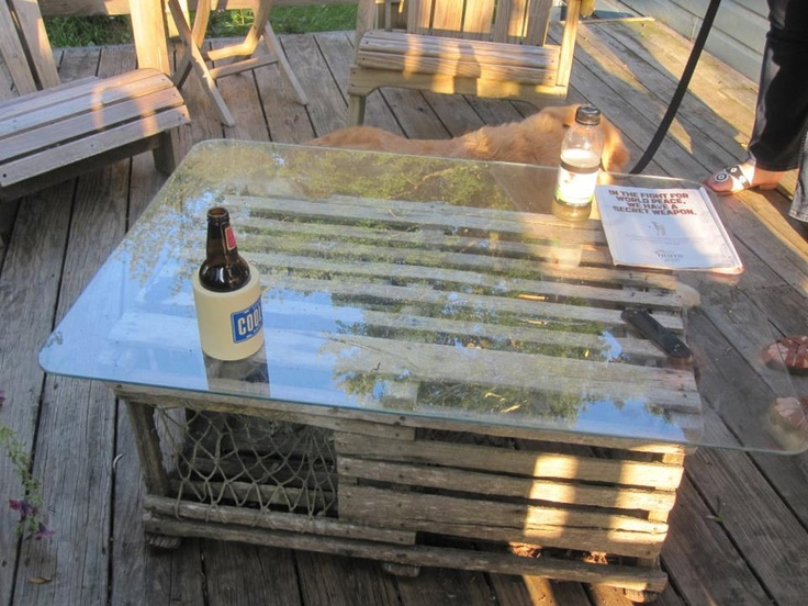 Captivating Lobster Trap Outdoor Coffee Table