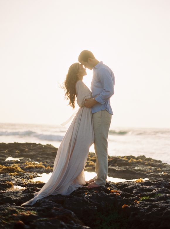 Romantic Tulum Engagement Session in a Handmade Gown | Wedding Sparrow | Michelle Boyd Photography
