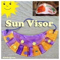 Sun Visor Craft and Sun Safety Activities for preschool
