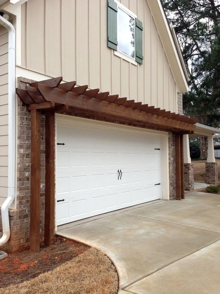 22 best garage door trellis or arbors images on pinterest for Garage pergola kits