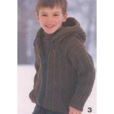 Hooded Jacket (for boy) - Knitting Patterns - Patterns | Yarnspirations