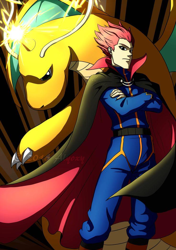 Lance and Dragonite - Pokemon