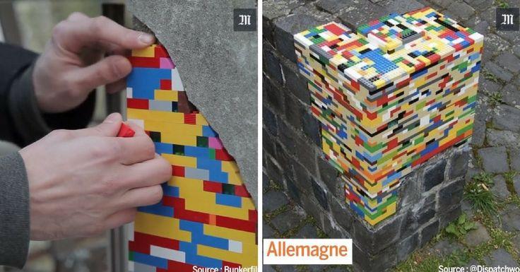 L'artiste Jan Vormann n'a qu'une idée en tête : embellir le monde avec des couleurs... et des LEGO. Il comble les fissures des murs en friche avec talent.