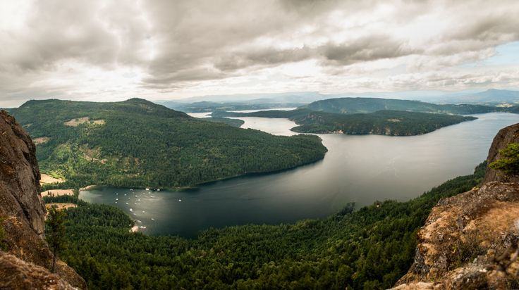 Salt Spring Island - from the top of mt Maxwell.