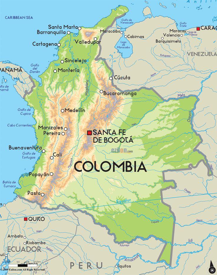 Mapa de Columbia