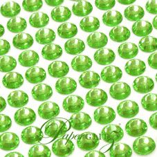Wholesale Self-Adhesive Diamantes - 6mm Round Lime Green - Sheet of 100