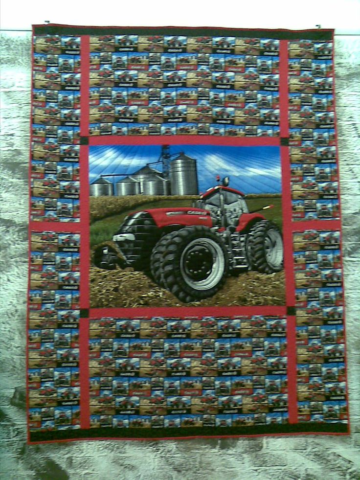 Case Tractor Quilt.  Kit for this quilt is avaliable from Little Desert Quilts, Kaniva.