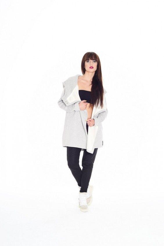 Bluzo-płaszcz ROBIN jasnoszary
