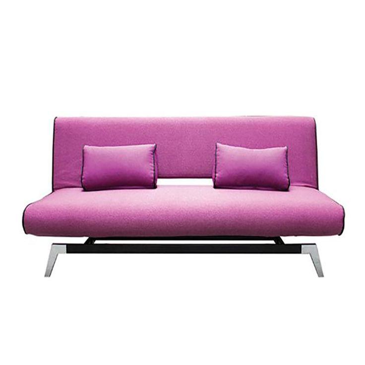 Καναπές-κρεβάτι Felix με ύφασμα μωβ 191x91x79