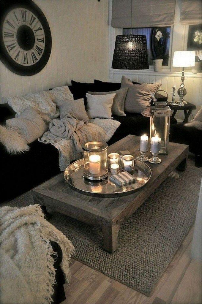 48 Cozy Farmhouse Living Room Decor Ideas That Make You Feel In Village 27 Gentileforda Com Apartment Decorating Rental First Apartment Decorating Living Room Decor On A Budget