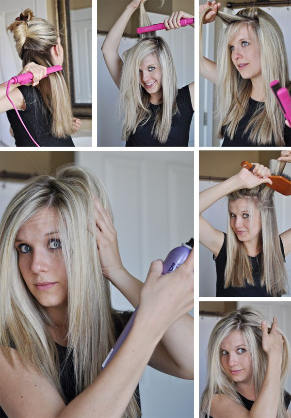 Give it to me straight: Beauty Tips, Girl, Straight Hair, Hairdos, Hair Styles, Hair Do, Hair Tips, Hair Tricks, Volume Trick