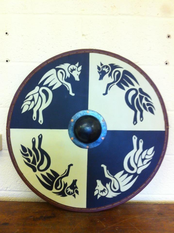 Viking Re-enactor shield, hand beaten boss by VandrefalkForge.deviantart.com on @deviantART