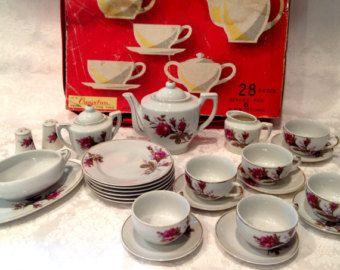 vintage children's tea sets by Zu-Zu on Etsy