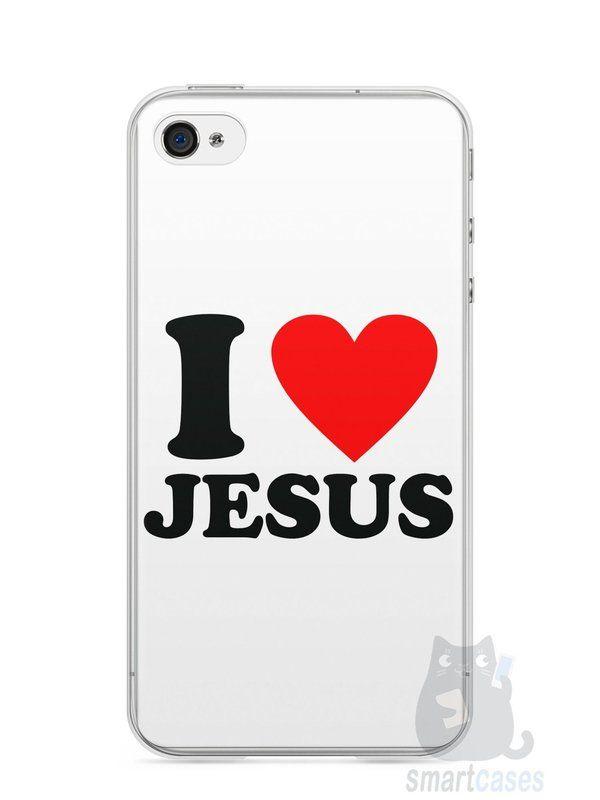Capa Iphone 4/S I Love Jesus - SmartCases - Acessórios para celulares e tablets :)