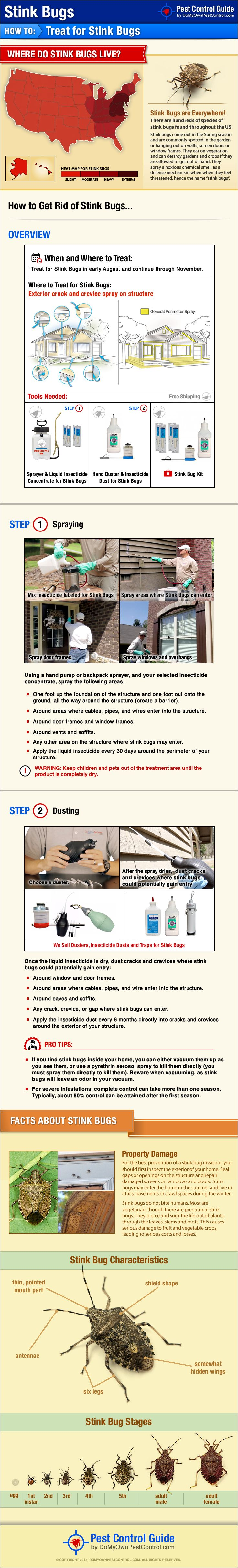 Learn how to get rid of stink bugs yourself with this new DIY stink bug treatment guide. Click here to purchase the products mentioned in this guide: http://www.domyownpestcontrol.com/stink-bugs-c-211.html