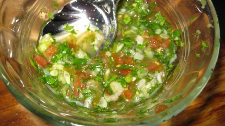 Aji (Colombian Salsa) Great for empanadas