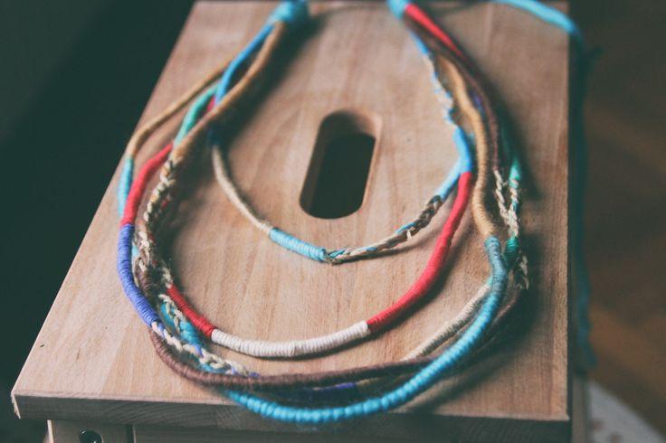 Hippy yarn/wool necklace