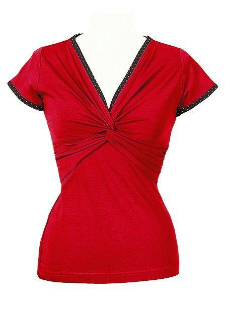 Ecouture Twist t-shirt rød