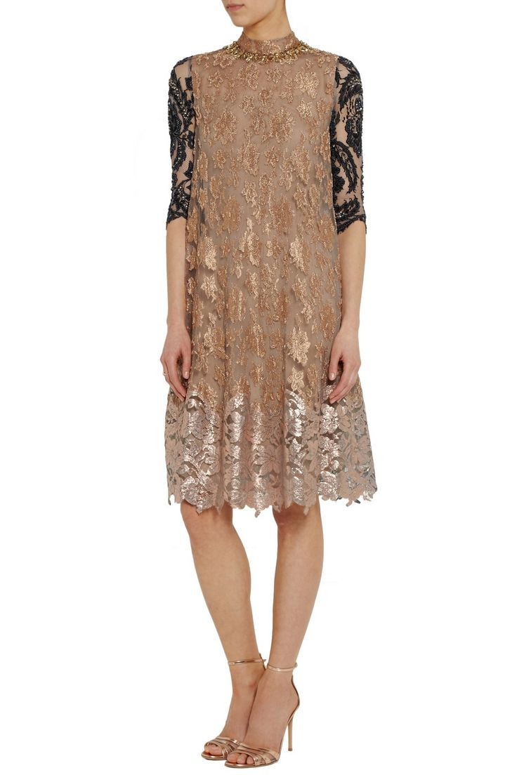 Biyan Amara embellished metallic lace dress...could totally see this on Kiera Knightley