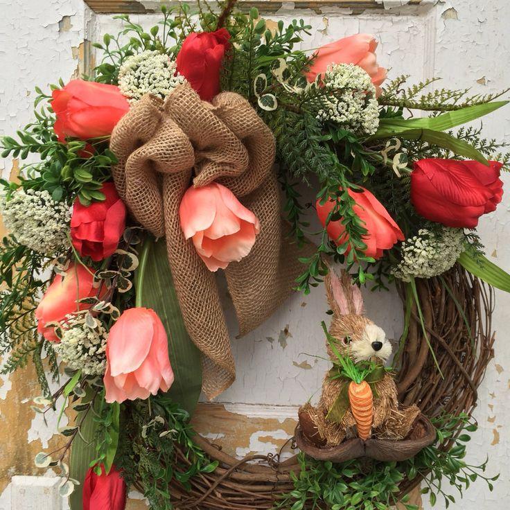 Patriotic Wreath Americana Wreath Spring Wreath by FlowerPowerOhio