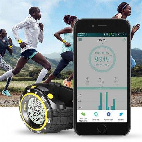 Montre Sport Multifonction Smart Watch multi fonction Android Bluetooth 4.0/IOS Fonctionne avec une pile bouton CR2032,capacité 220 mAh,aisément remplaçable !