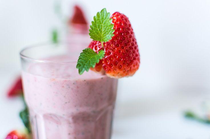 smoothie de fresa para bajar de peso