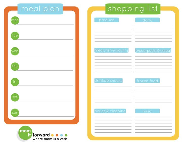 108 best Life Planning Meal Planning recipe Planner!! images on - menu planner template free