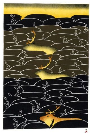Seasonal Migration, by Ningeokuluk Teevee (Inuit artist), Cape Dorset, 2009