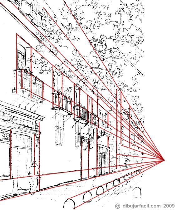 Las 25 mejores ideas sobre perspectiva en pinterest for Exterior un punto de fuga