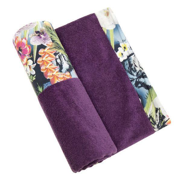Hawaian Tropic - Purple Towel