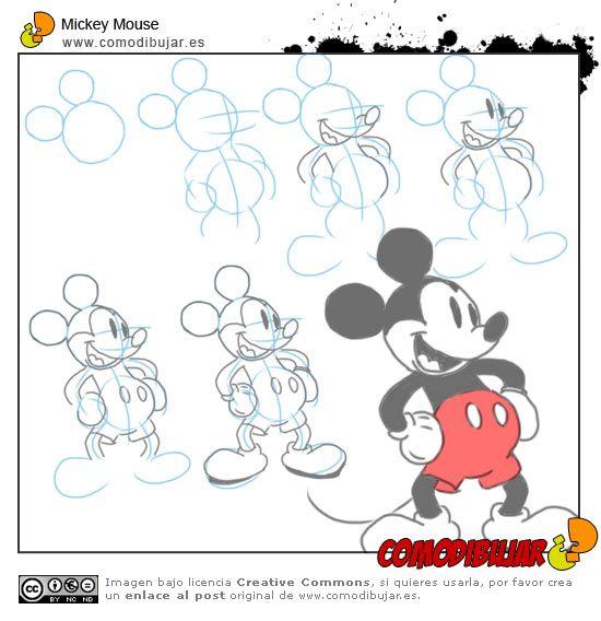 dibujar a mickey