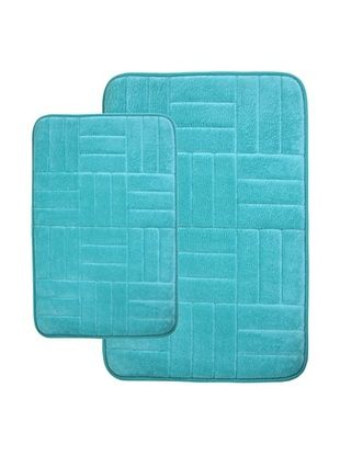 68% OFF Memory Foam Bath Mat, Aqua
