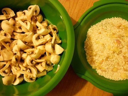 Risotto aux champignons et jambon cru au Micro Vap' Tupperware